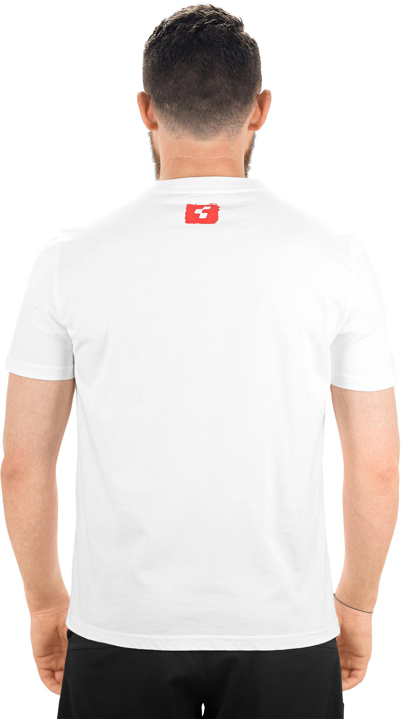 fbb1f02c Cube Logo 2.0 T-Skjorte Herre white'n'red | Gode tilbud hos bikester.no